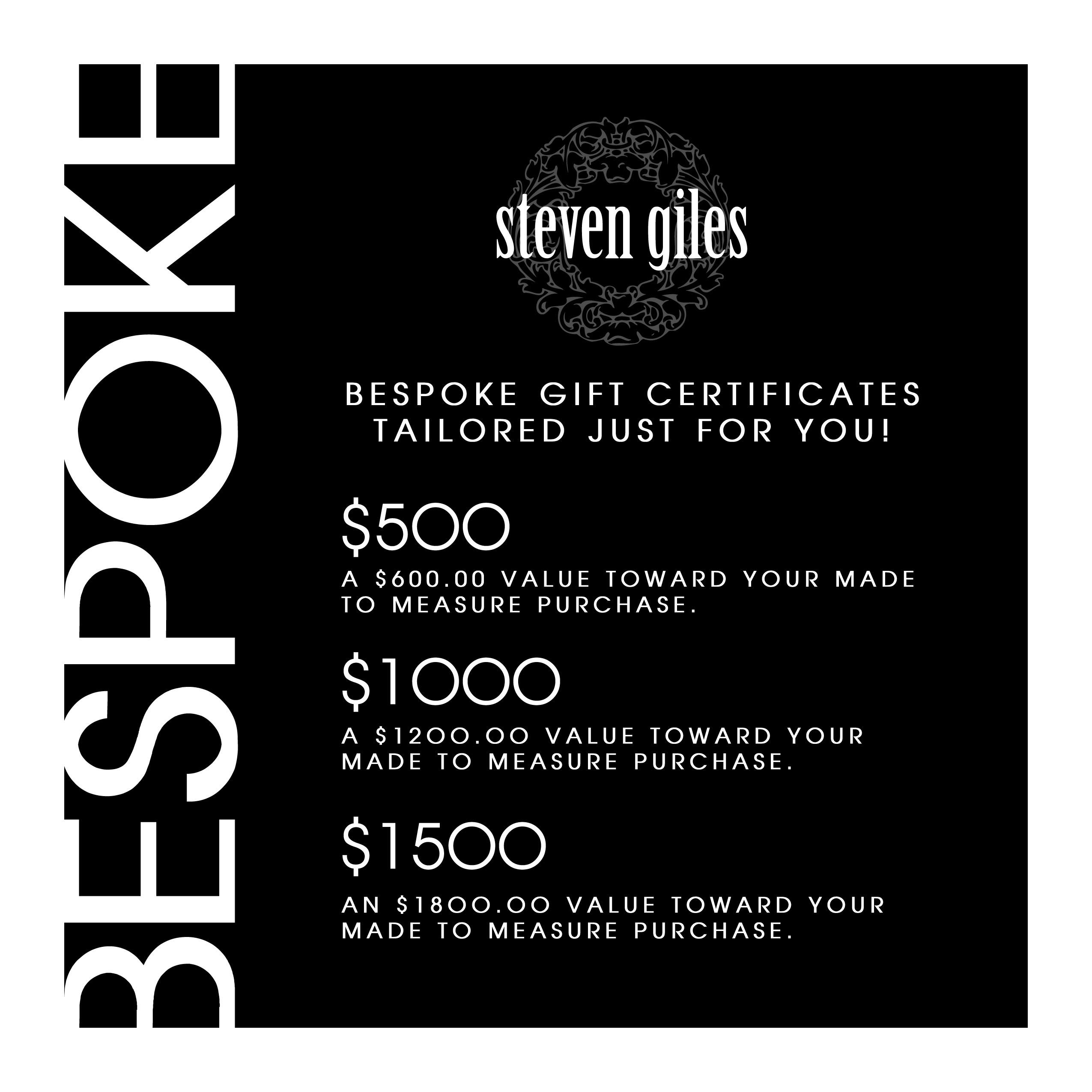 Bespoke Gift Certificates