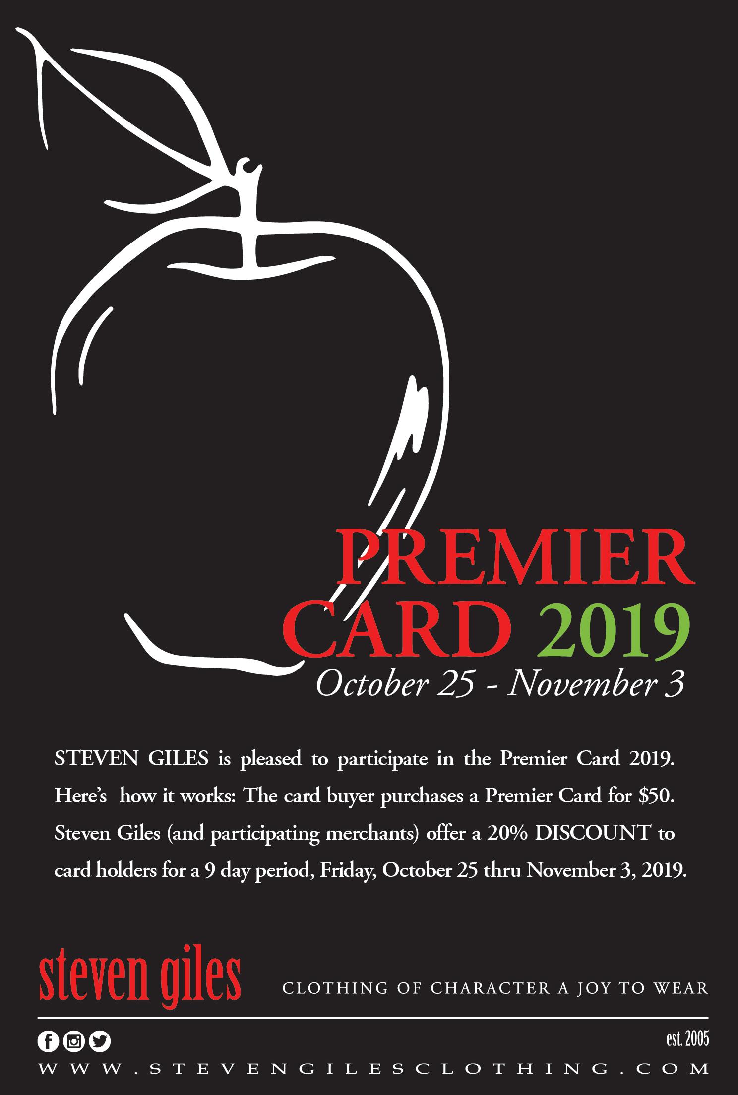 Premier Card 2019