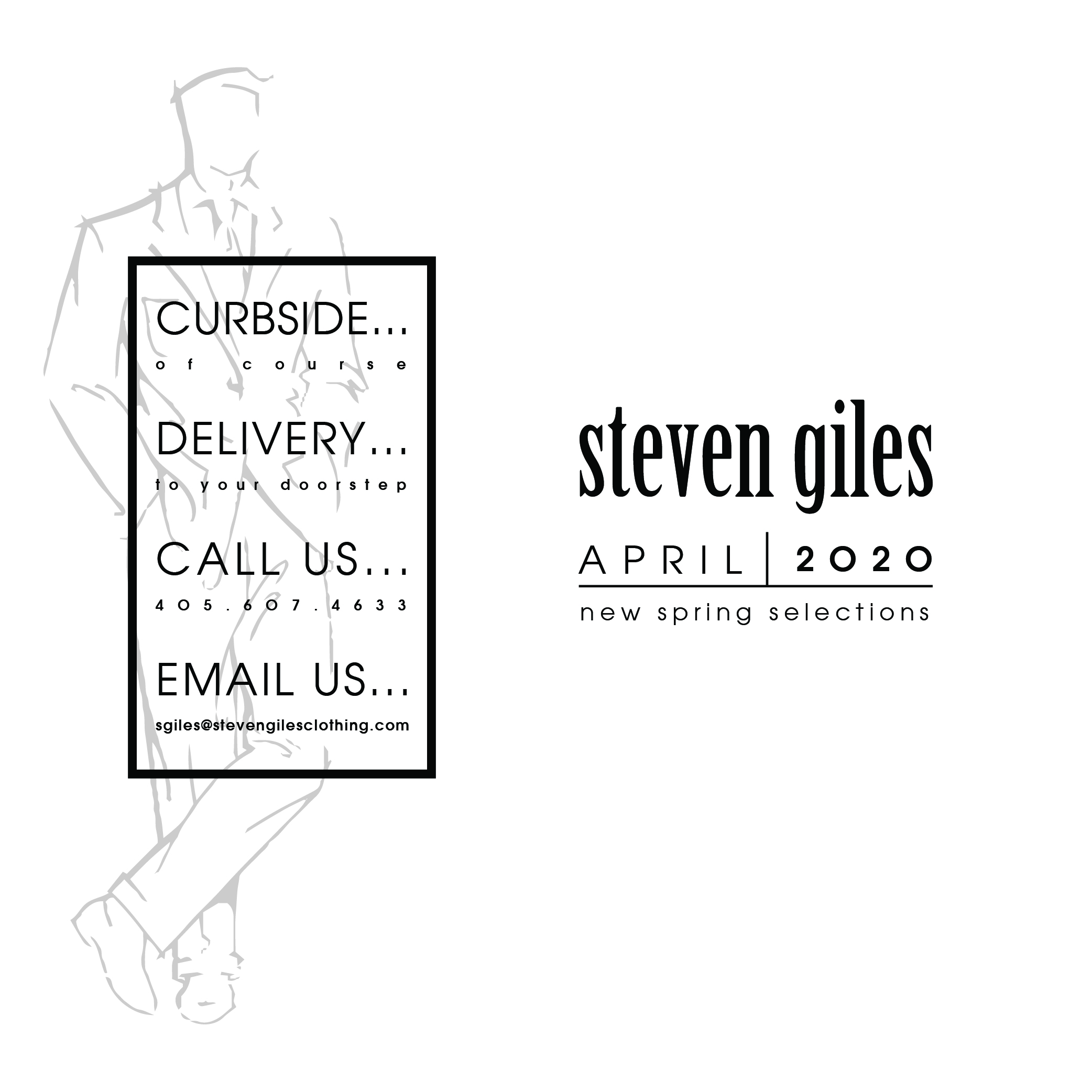 Curbside, Delivery, Call Us, or Email US
